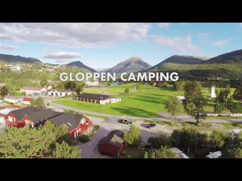 Dronevideo over Gloppen Camping