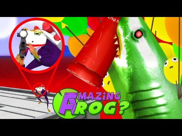 JOKE FROG vs ZOMBIE SHARKS - Amazing Frog Part 178 | Pungence