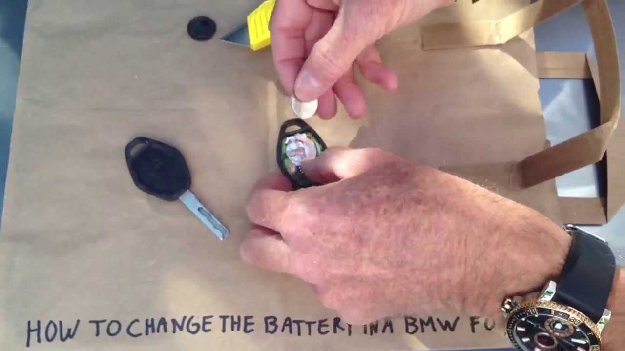 How to replace BMW Key Battery  YouTube