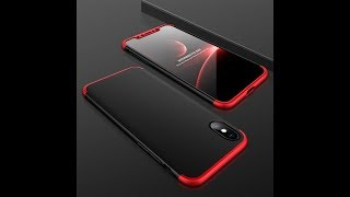 Best Hybrid 360 Case + Tempered Glass for iPhone X
