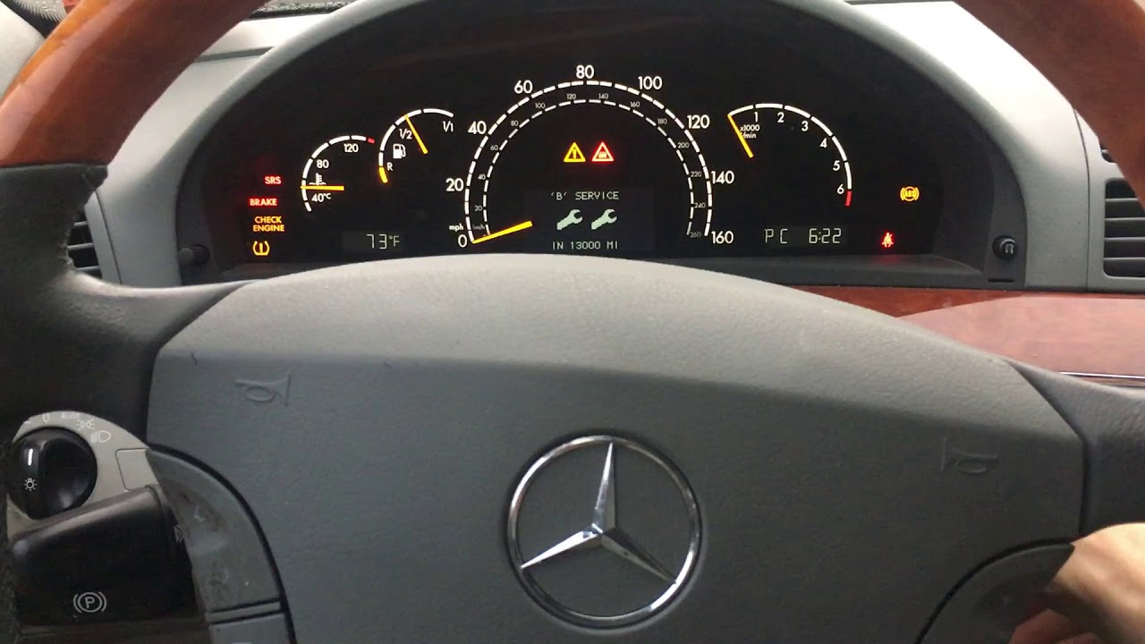 Mercedes Benz S Class Reset Service W220 Youtube