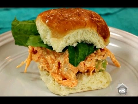 healthy buffalo chicken salad sandwich recipe