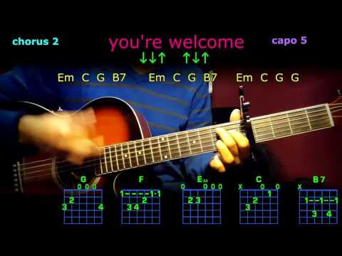 you're welcome dwayne johnson guitar chords