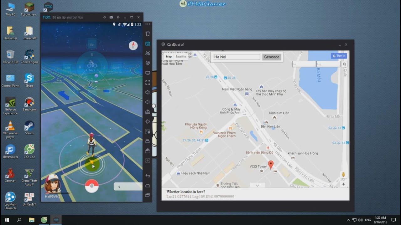 Hướng dẫn cài đặt Pokemon Go chơi trên máy tính và Di chuyển Pokemon Go trên máy tính