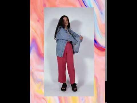 JAQUETA jeans oversized - azul claro (unissex)