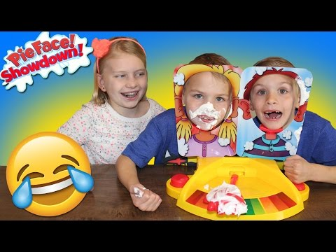 Pie Face Showdown || Family Game Night