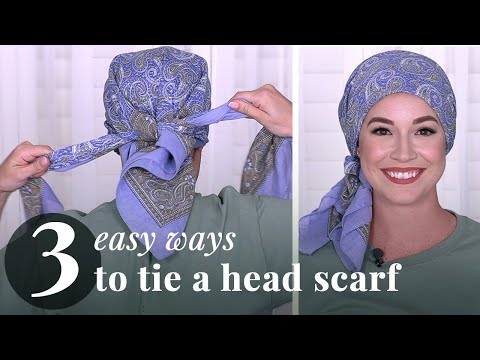 How To Tie A Headscarf Video | 3 Ways In 2 Minutes (2019)