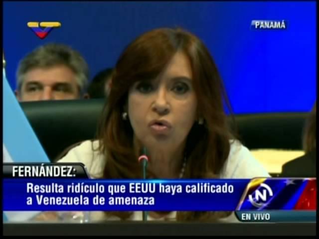 Cumbre de las Américas 2015: Cristina Fernández rechaza decreto de Obama contra Venezuela