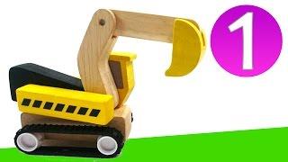 Развивающее видео для самых маленьких. Цифра 1. Игрушечные машинки на стройке(Развивающее видео для детей от 1 года. Давайте посмотрим на наши любимые игрушки и запомним, как пишется..., 2015-01-07T10:56:41.000Z)