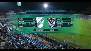 Temperley - Vélez. Fecha 19 Torneo de Primera División 2015. FPT.