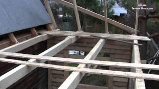 видео Пристройка к дому из бруса на винтовых сваях