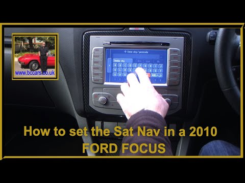 How to set the Sat Nav in a 2010 60 FORD FOCUS 2 5 RS