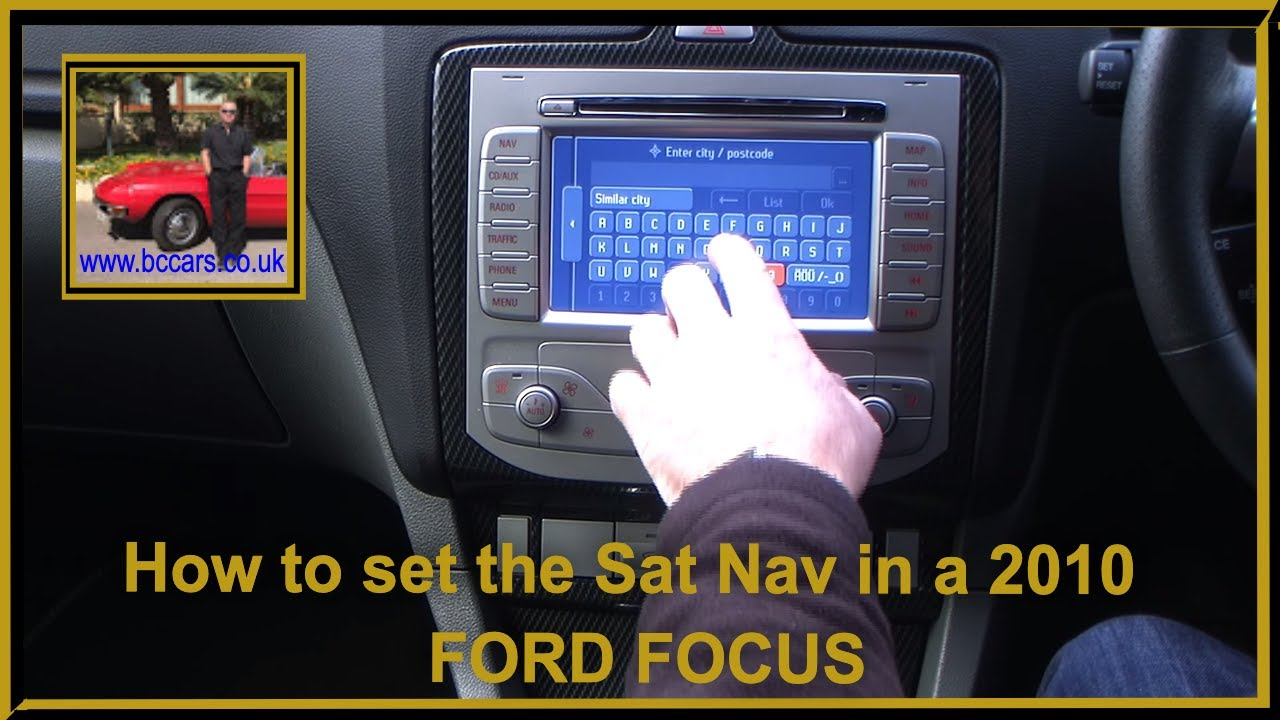 set  sat nav     ford focus   rs