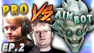 Pro Players vs Aim Botters MONTAGE Ep.2 | Overwatch Seagull and Taimou vs CHEATERS