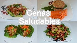 Cenas Saludables ( Pasta De Zucchini, Amburguesa,tacos De Lechuga,ensalada)