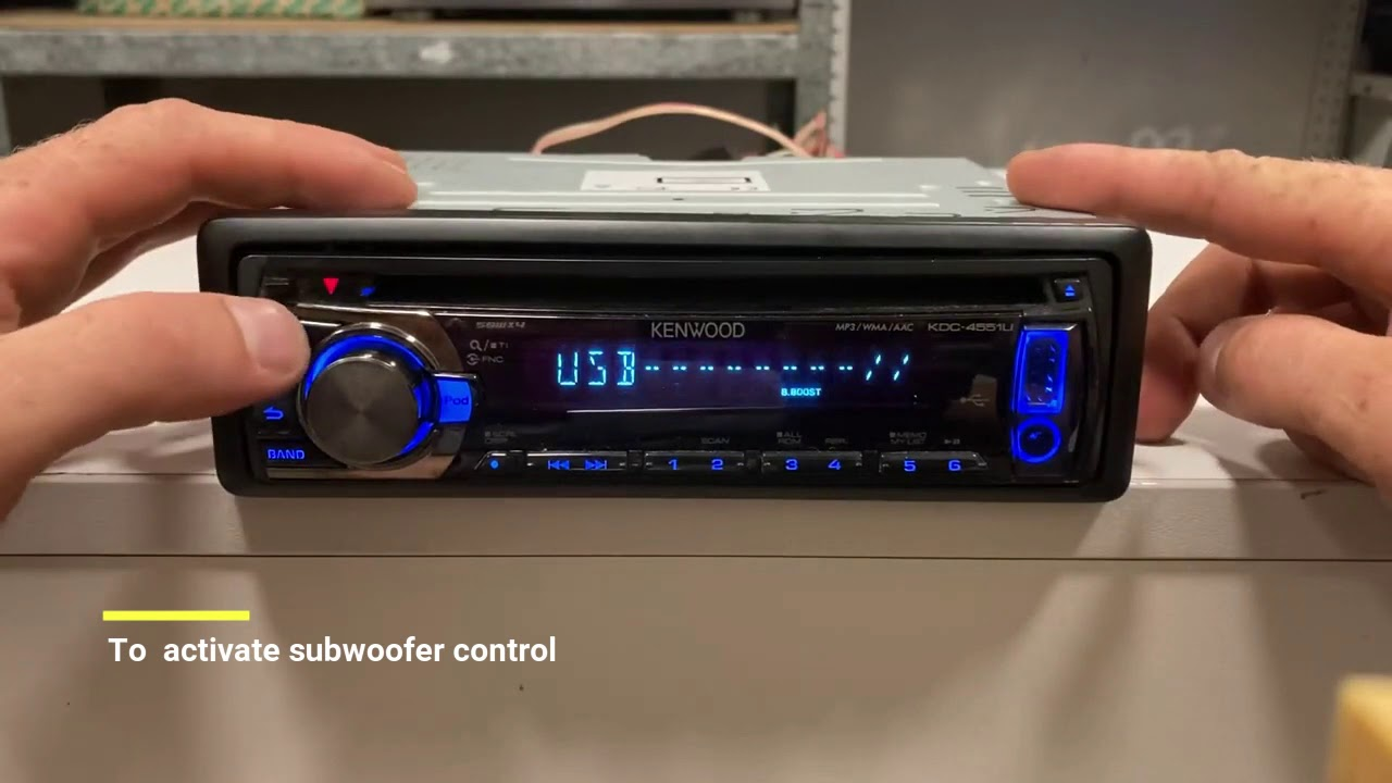 How To Aktive Subwoofer Control On Kenwood Car Receiver Youtube