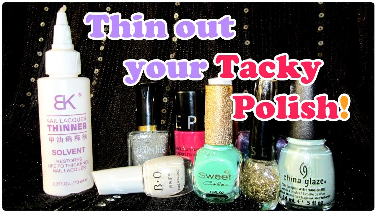 THIN out your OLD TACKY nail polish | BORNPRETTYSTORE - YouTube