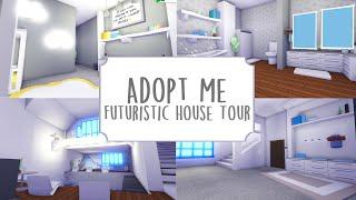 Modern Futuristic House Tour Roblox Adopt Me Youtube