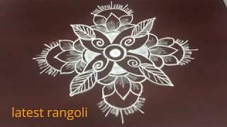 latest rangoli friday kolam without dots || creative simple rangoli design ||