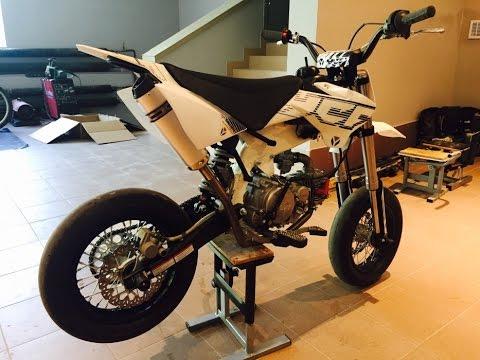 mini supermoto bike ycf 150 sm first ride pit bike. Black Bedroom Furniture Sets. Home Design Ideas