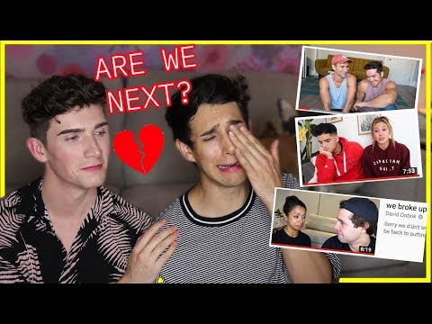 "Couple Reacts to ""WE BROKE UP"" COUPLE'S VIDEOS *emotional*"