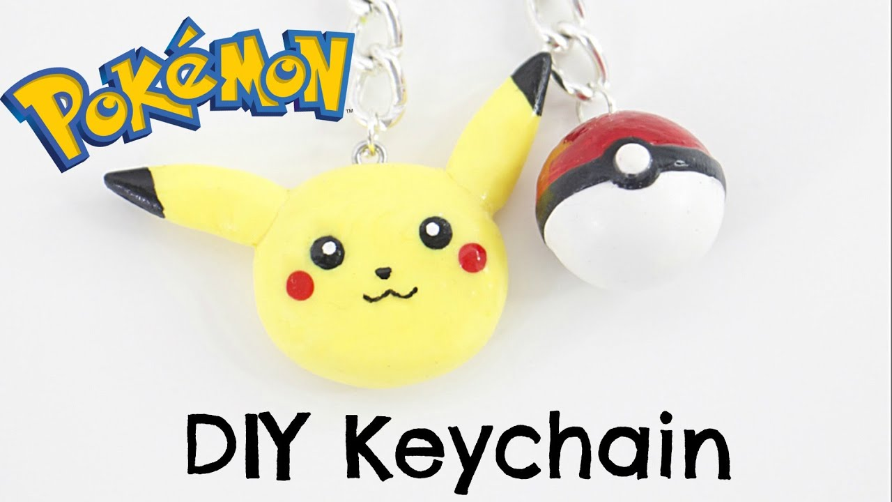 Diy Pokemon Keychain Pikachu Poke Ball Youtube