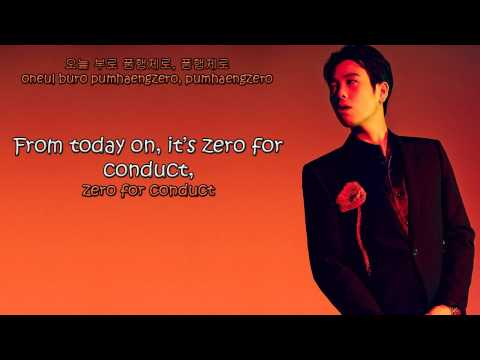 Bastarz (Block-B) - Zero For Conduct | 품행제로 Lyrics (Hangul + Romanization + English)