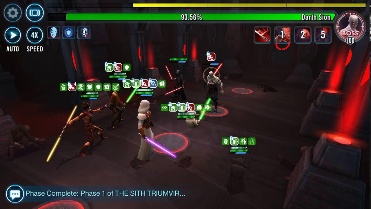 6MIL+ Damage w/ Revan Team Phase 2 - SWGOH Heroic Sith Raid - Thủ