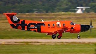 Pilatus PC-12/47 Dexter Aero RA-01505 Landing at Domodedovo 2011(Пилатус РС-12/47 Декстер Аэро посадка в Домодедово Споттинг Spotting in Domodedovo DME UUDD авиа такси., 2011-07-29T15:08:03.000Z)