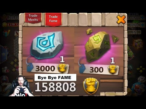 Augmenting 20 HEROES AT ONCE Bye Bye FAME Castle Clash