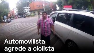 Conductor agrede a ciclista en la Colonia Condesa - Las Noticias con Danielle