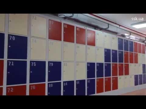 Цветные металлические шкафы для раздевалки! Получилось супер)