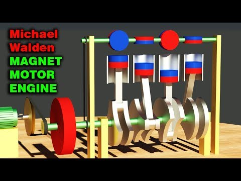 FREE ENERGY, Michael Walden Magnet Motor, MAGNET ENGINE!!!!!