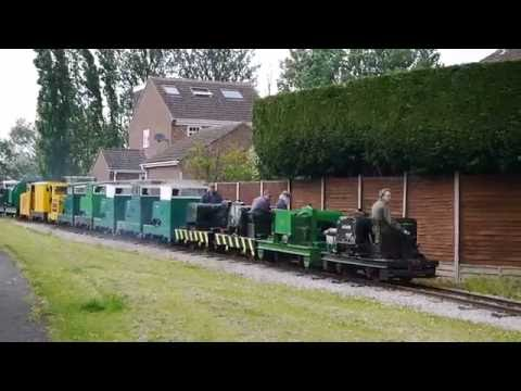 Leighton Buzzard Narrow Gauge Railway Simplex Centenary Record Breaking 16 Header Train