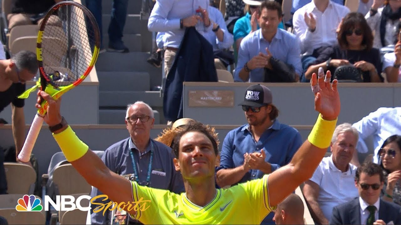 2019 French Open Highlights: Rafael Nadal eases past Yannick Hanfmann | NBC Sports