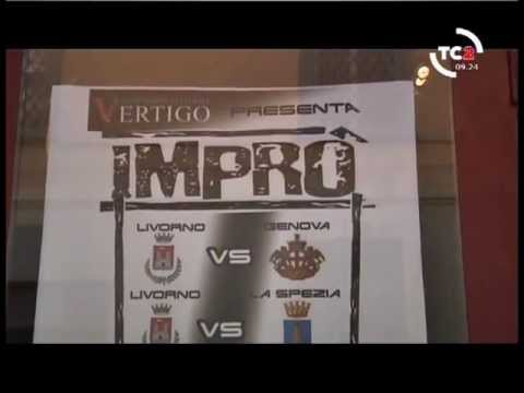 Imrò(b)abili Gruppo improvvisazione teatrale Vertigo Livorno. CNA 2013: Intervista Telecentro