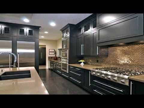 Dark Black Kitchen Design Ideas ᴴᴰ █▬█ █ ▀█▀