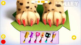 Забавный уход за животными -милый котенок изучает косметику перестройки волос игра вечеринки салон