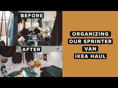 Organizing Our Sprinter Van | IKEA Haul