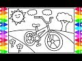 How to Draw a BICYCLE Step by Step for Kids  🚲 Bicycle Coloring Pages | Fun Coloring Pages for Kids