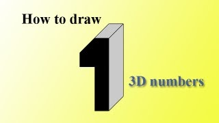 The number one 3D - Número 1, 3D