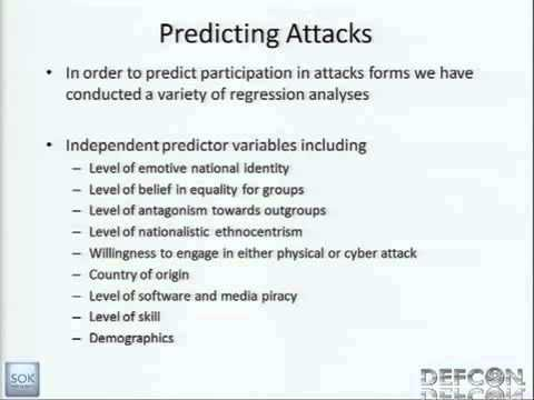 DEFCON 19 Assessing Civilian Willingness to Participate in On-Line Political and Social Conflict