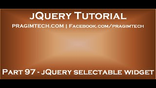 jQuery selectable widget