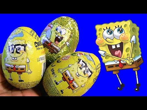 SpongeBob Huevos Sorpresa by Nickelodeon Bob Esponja Unboxing same as Kinder Surprise Eggs