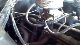 1966 Mustang inline 6, duel exhaust, Flowmaster 40, V8 sounding.