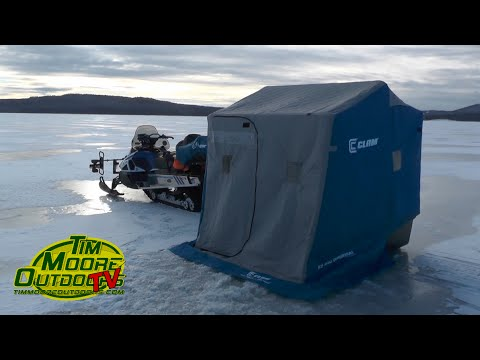 Ice Fishing First Connecticut Lake - 2016