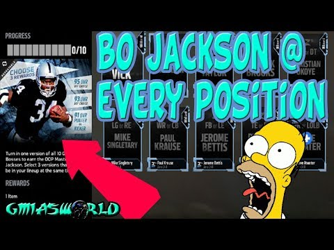 OMG! MADDEN 18 ZERO CHILL FEATURES BO JACKSON AT EVERY POSITION! HOW TO GET BO JACKSON NOW! | MUT 18