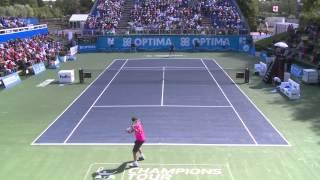 Tennis - ATP Champions Tour: Optima Open, Xavier Malisse vs Pat Cash