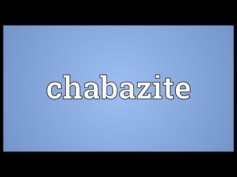 Header of chabazite