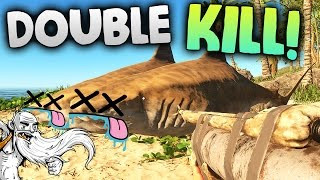 "Stranded Deep Gameplay - ""DOUBLE TIGER SHARK KILL!!!""  - Let"